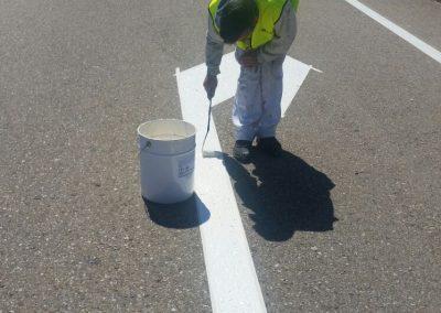 Pintado carretera
