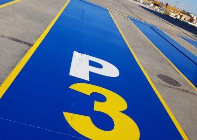 Pintado parking industrial